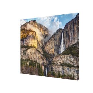 Yosemite Falls scenic, California Canvas Print