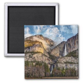 Yosemite Falls scenic, California Square Magnet