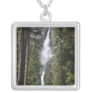 Yosemite Falls, Yosemite National Park Silver Plated Necklace