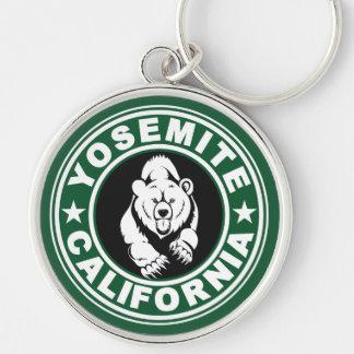 Yosemite Green Circle Keychain