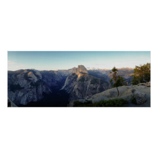 Yosemite Half-Dome Panorama Poster