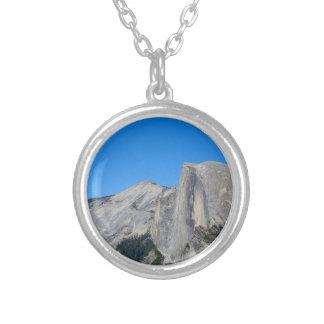 Yosemite Half Dome Silver Plated Necklace