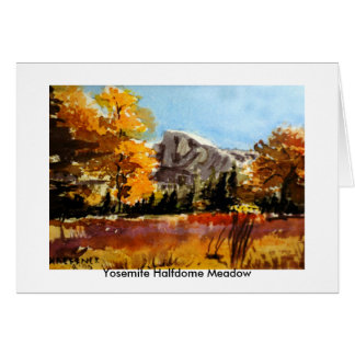 Yosemite Halfdome Meadow Card