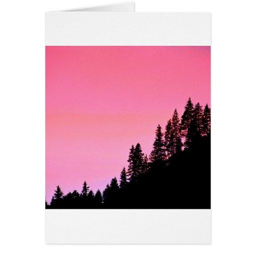 Yosemite Hillside Pines Park Greeting Cards