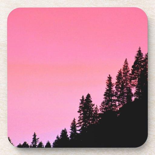 Yosemite Hillside Pines Park Beverage Coasters