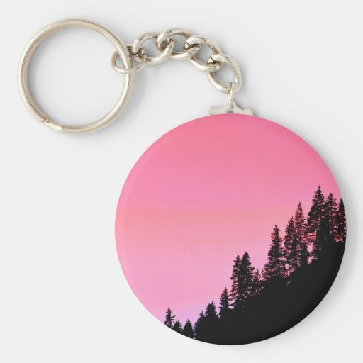 Yosemite Hillside Pines Park Key Chain
