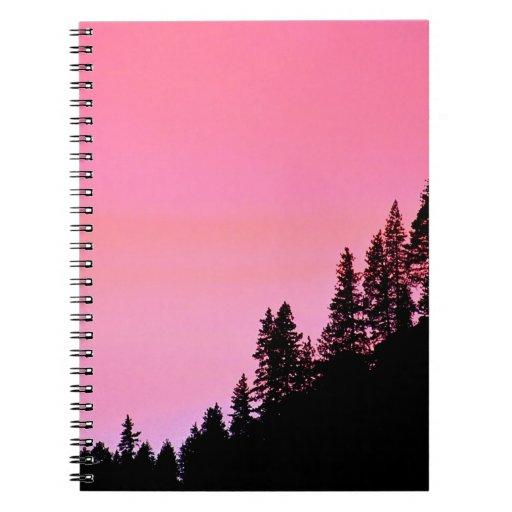 Yosemite Hillside Pines Park Spiral Note Book