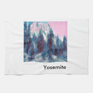 Yosemite in Pink Hand Towel