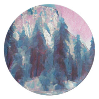 Yosemite in Pink Party Plates