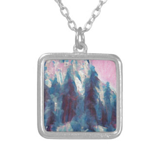 Yosemite in Pink Silver Plated Necklace