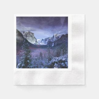 Yosemite in Winter Paper Napkin