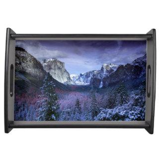 Yosemite in Winter Serving Tray
