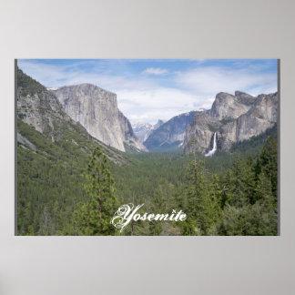 Yosemite Lake and Mountains Poster
