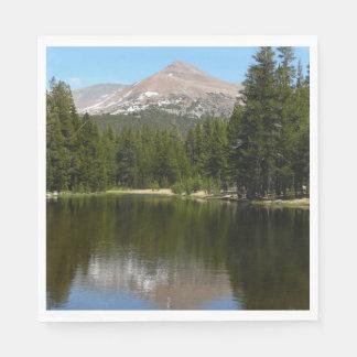 Yosemite Lake Reflection Paper Napkin