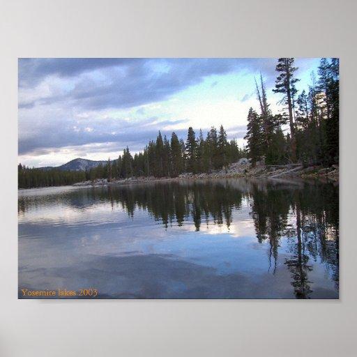 Yosemite lakes 2003 print