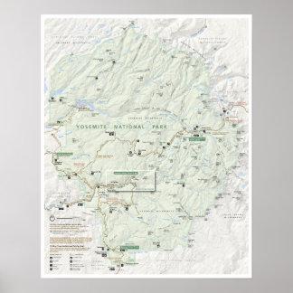 Yosemite map poster
