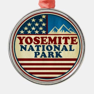 Yosemite National Park California Patriotic Metal Ornament