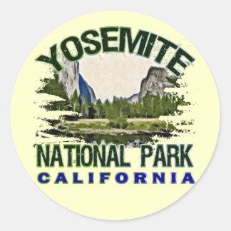 Yosemite National Park, California Round Sticker