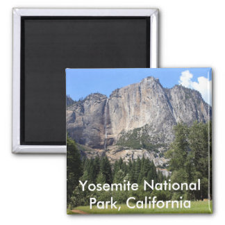 Yosemite national park, California Square Magnet