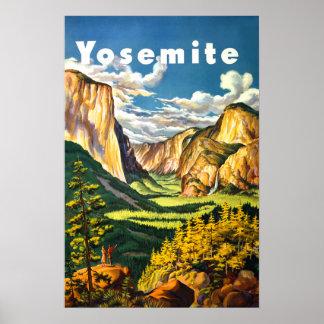 Yosemite National Park California Travel Art Poster