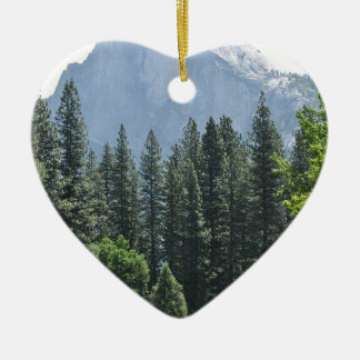 Yosemite National Park Ceramic Heart Ornament