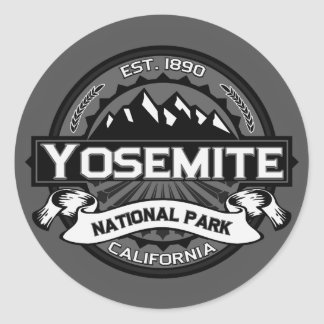 Yosemite National Park Classic Round Sticker