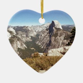 Yosemite National Park, Half Dome Mountain, USA Ceramic Ornament