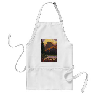 Yosemite National Park - Half Dome - Vintage Standard Apron