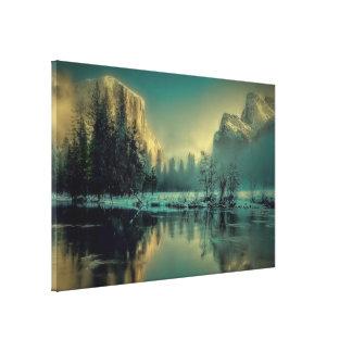 Yosemite national park landscape canvas print