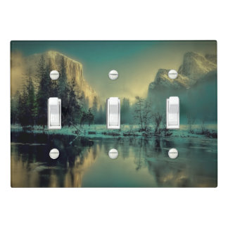 Yosemite national park landscape light switch cover