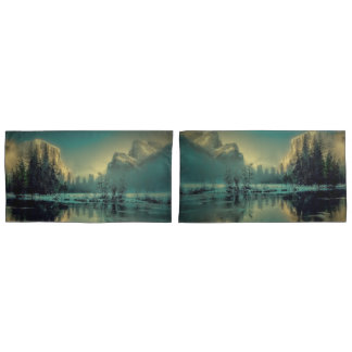Yosemite national park landscape pillowcase