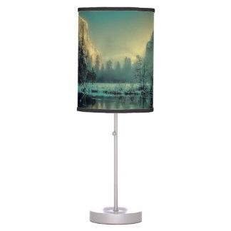 Yosemite national park landscape table lamp