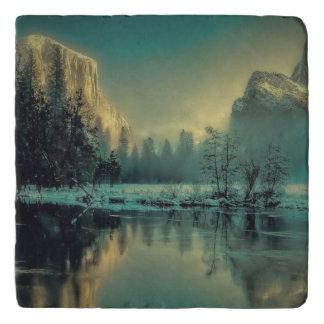 Yosemite national park landscape trivet