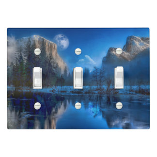 Yosemite national park moonlit night light switch cover