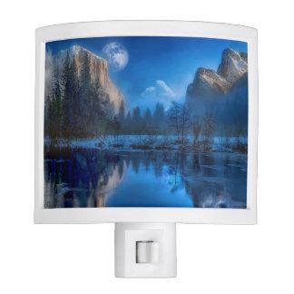 Yosemite national park moonlit night night lite