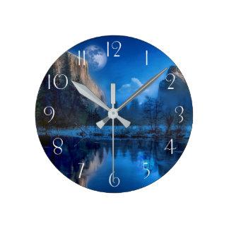 Yosemite national park moonlit night round clock