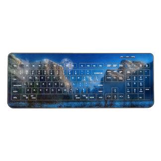 Yosemite national park moonlit night wireless keyboard