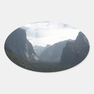 Yosemite National Park Oval Sticker