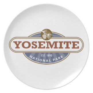 Yosemite National Park Party Plate