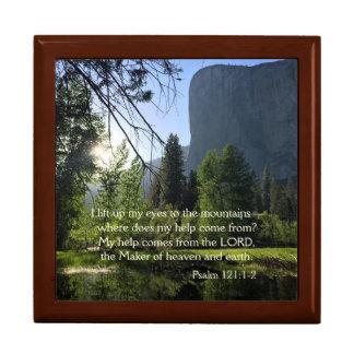 Yosemite National Park Psalm Jewelry Box