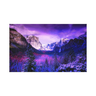 Yosemite National Park Purple Skyline Canvas Print
