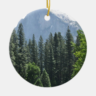 Yosemite National Park Round Ceramic Ornament