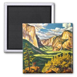 Yosemite National Park Travel Art Magnet