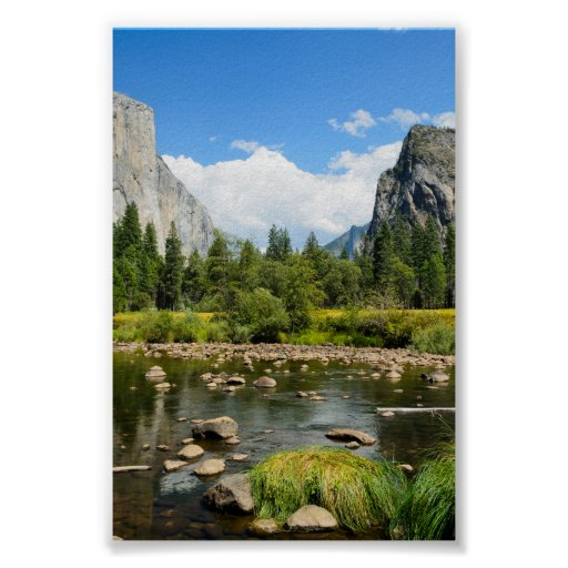 Yosemite National Park Valley View Posters