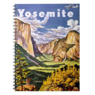 Yosemite National Park Vintage Poster Spiral Notebooks