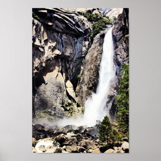 Yosemite National Waterfall Print