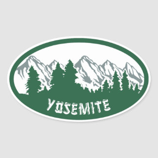 Yosemite Natl Park Panorama Oval Sticker
