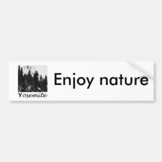Yosemite No. 1 Black and White Bumper Sticker