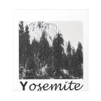Yosemite No. 1 Black and White Notepad