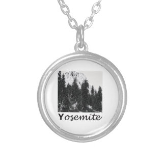 Yosemite No. 1 Black and White Silver Plated Necklace